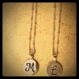 Jewelry - Sterling silver initial pendants